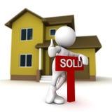 были имеет дом быть проданным Стоковое фото RF