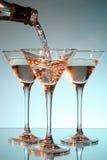 был стеклянным политым martini Стоковая Фотография