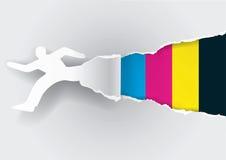 Быстрая концепция бумаги печатания Стоковая Фотография
