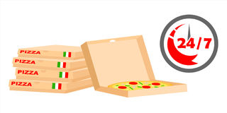 Быстрая пицца поставки Стоковая Фотография RF