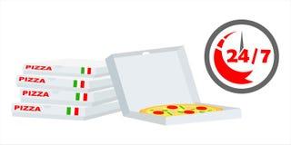 Быстрая пицца поставки Стоковое Изображение