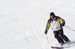 быстрое катание на лыжах Стоковое Изображение