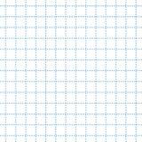 Быстрое примечание в сини пунктирной линии в шаблоне клетки Предпосылка образования иллюстрация штока