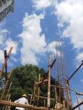 Быстрое развитие инфраструктуры ` s Китая стоковые изображения rf