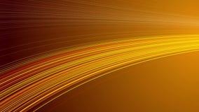 Быстроподвижные поставленные точки изогнутые строки, петля золота безшовная видеоматериал