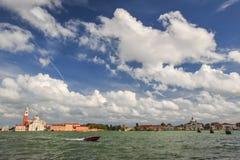 Быстроходный катер в Венеции Стоковая Фотография