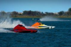 быстроходный катер гонки Стоковая Фотография