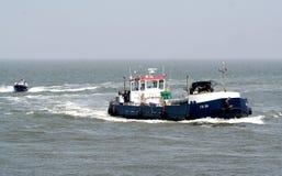 Быстроходный катер полиции на wadden-море Стоковое Фото