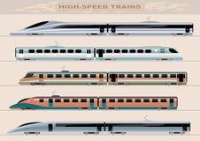 Быстроходные поезда Стоковое Фото