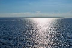 Быстроходный катер в море Стоковое Фото