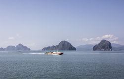 Быстроходный катер в море andaman Стоковое фото RF