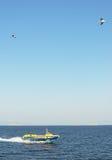 Быстроходный катер на море Стоковое фото RF