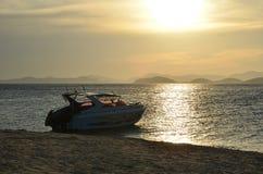 Быстроходный катер на море andaman в солнечности Стоковые Фотографии RF