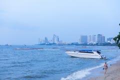 Быстроходный катер, пляж Паттайя Стоковая Фотография