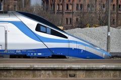 Быстроходный поезд в Польше Стоковое Фото