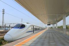 Быстроходный поезд Китая новый стоковые изображения rf