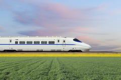 Быстроходный поезд Китая новый стоковые фотографии rf