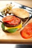 быстро-приготовленное питание бургера Стоковое Изображение RF