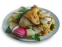 быстро-приготовленное питание цыпленка Стоковые Фотографии RF