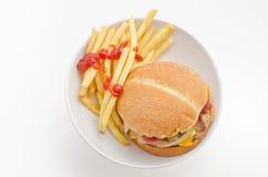 Быстро-приготовленное питание гамбургера Стоковая Фотография RF