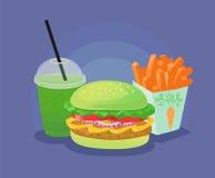быстро-приготовленное питание здоровое иллюстрация вектора