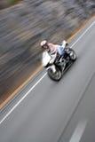 быстро проходить мотоцикла нерезкости Стоковое Изображение RF