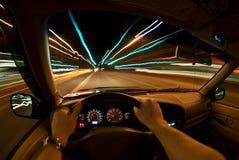 быстро проходить ночи Стоковая Фотография RF