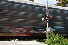 Быстро проходя поезд Стоковые Фото