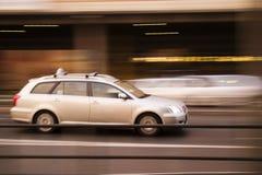 быстро проходя таксомотор Стоковые Изображения RF