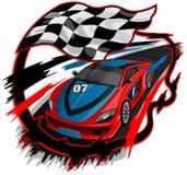 Быстро проходя дизайн гоночного автомобиля Стоковые Фотографии RF