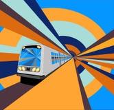 Быстро проходя поезд метро Стоковое фото RF