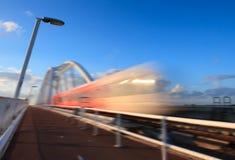 Быстро проходя поезд Стоковое Изображение RF