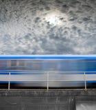 Быстро проходя поезд Стоковое Изображение