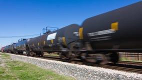Быстро проходя поезд frieght нерезкость Стоковые Фото