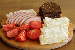 Быстро сделанная сымпровизированная кормя закуска Стоковая Фотография RF