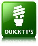 Быстрые подсказки (значок шарика) зеленеют квадратную кнопку иллюстрация вектора