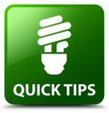 Быстрые подсказки (значок шарика) зеленеют квадратную кнопку иллюстрация штока