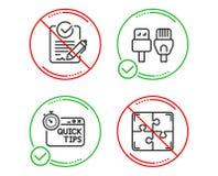 Быстрые подсказки, кабели Rfp и компьютера набор значков знак головоломки вектор бесплатная иллюстрация