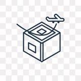 Быстрый значок вектора доставки изолированный на прозрачной предпосылке, li бесплатная иллюстрация