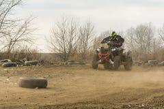 Быстрый квад управляя тренировкой на внедорожном Стоковое Фото