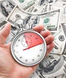 Быстрый кредит в принципиальной схеме наличных денег Стоковое Изображение RF