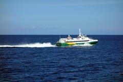 Быстрый паром острова в Вест-Инди Стоковая Фотография
