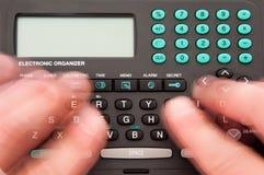 быстрый печатать на машинке Стоковое Фото