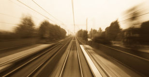 быстрый поезд путешествием Стоковое фото RF