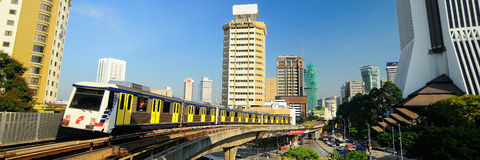 Быстрый поезд рельса Стоковое Изображение RF