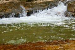 Быстрый поток горы или малое река горы Стоковые Изображения