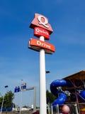 Быстрый ресторан гамбургера Стоковое фото RF