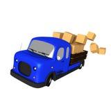 Быстрый фургон поставки иллюстрация вектора