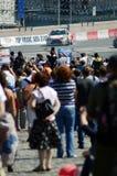 Быстрый ход гоночного автомобиля города участвуя в гонке a Москвы стоковое изображение rf