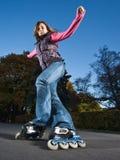 быстрый rollerblading стоковые фотографии rf